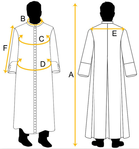Black Cassock with shoulder cape