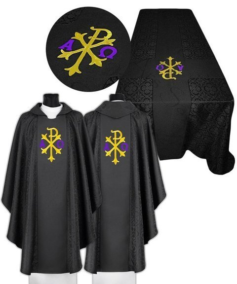 Funeral set of chasuble and funeral pall model 681