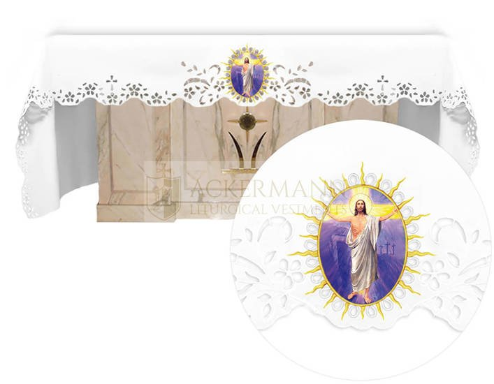Altar cloth - Openwork with an Easter theme 738