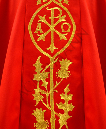 Gothic Chasuble Chi-Rho symbol ☧ model 531