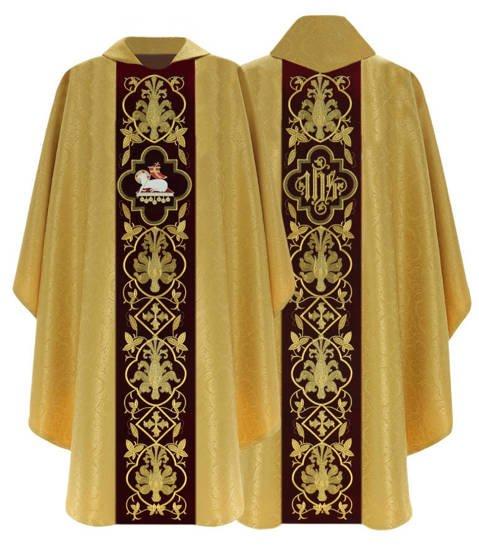 Gothic Chasuble Lamb model 814
