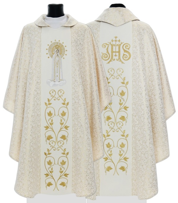 Gothic Chasuble Our Lady of Fatima model 412