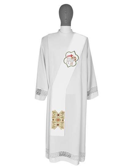 Marian Deacon Stole Lamb of God 045