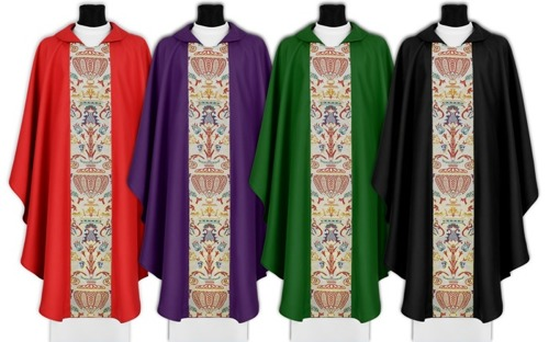 Set of Gothic Chasubles model 115