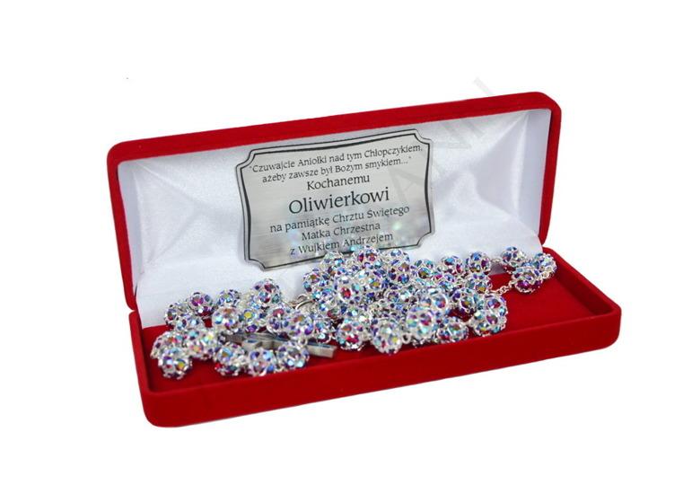 Swarovski Crystal Rosary iridescent red