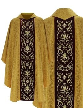 Gold Gothic Chasuble model 674