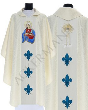 Gothic Chasuble Heart of Mary Our Lady of Fatima model 427