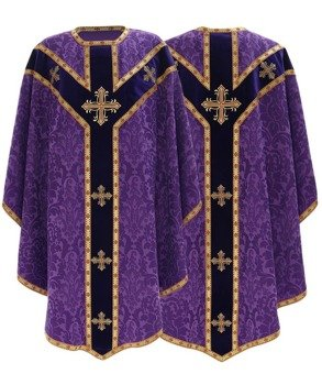 Purple Semi Gothic Chasuble model 784