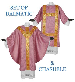 Set of Gothic Chasuble with dalmatic model 114
