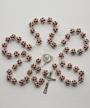 Swarovski Crystal Rosary burgundy