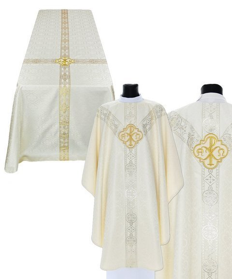 Funeral set of chasuble and funeral pall model 211