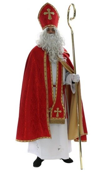 Nikolaus-gewand Kostüm Sankt Nikolaus (Kleidung des echten Hl. Nikolaus) SC4