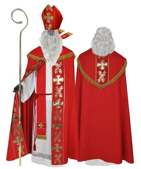 Nikolaus-gewand Kostüm Sankt Nikolaus (Kleidung des echten Hl. Nikolaus) SC5