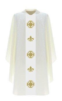 Cream Gothic Chasuble model 793