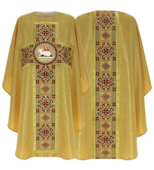 Gold Gothic Chasuble Lamb model 794